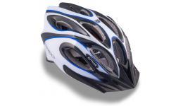 Шлем 8-9001263 спорт. с сеточкой Skiff 143 Blu 14отв. INMOLD сине-бело-черный 52-58см (10) AUTHOR