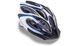 Шлем 8-9001264 спорт. с сеточкой Skiff 143 Blu 14отв. INMOLD сине-бело-черный 58-62см (10) AUTHOR
