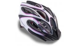 Шлем 8-9001265 спорт. с сеточкой Skiff 144 Prl жен. 14отв. INMOLD фиол.-белый 52-58см (10) AUTHOR
