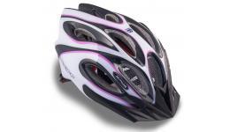 Шлем 8-9001266 спорт. с сеточкой Skiff 144 Prl жен. 14отв. INMOLD фиол.-белый 58-62см (10) AUTHOR
