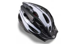 Шлем 8-9001309 с сеточкой Rocca 123 Blk подростк. 24отв. черно-белый 47-53см (10) AUTHOR