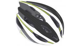 Шлем 8-9001326 с сеточкой Rocca N 162 24отв. бело-черно-зеленый 54-58см (10) AUTHOR