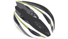 Шлем 8-9001327 с сеточкой Rocca N 162 24отв. бело-черно-зеленый 58-62см (10) AUTHOR