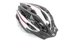 Шлем 8-9001329 с сеточкой Rocca N 163 24отв. бело-черно-красный 58-62см10) AUTHOR