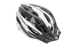 Шлем 8-9001330 с сеточкой Rocca N 164 24отв. бело-черно-серый 54-58см (10) AUTHOR