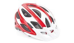 Шлем 8-9001351 спорт. с сеточкой Sector 121 Red 18отв. INMOLD красно-белый 58-62см (10) AUTHOR