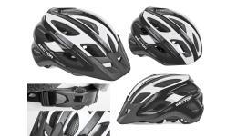 Шлем 8-9001354 спорт. с сеточкой Sector 123 Blk 18отв. INMOLD черно-белый 54-58см (10) AUTHOR