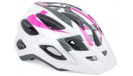 Шлем 8-9001361 спорт. с сеточкой SectorASL 164 жен. 18отв. INMOLD бело-розовый 54-58cм (10) AUTHOR