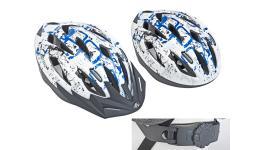 Шлем 8-9001371 спорт. с сеточкой Vento 125 Blu 17отв. INMOLD сине-белый 58-61см (10) AUTHOR
