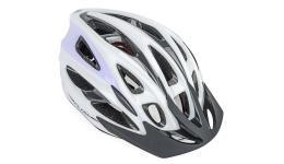 Шлем 8-9001424 спорт. с сеточкой Flow 136 Wht/Violet 21отв. INMOLD бело-фиолет. 54-61см (10) AUTHOR