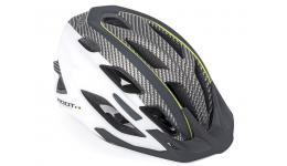 Шлем 8-9001440 спорт. 2 козырька Root 141 Blk 21отв. INMOLD/EPS/поликарб. черно-белый 53-59см AUTHOR