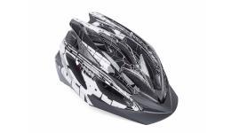 Шлем 8-9001460 спорт. Saber 142 Blk 17отв. INMOLD/EPS/поликарб. черно-бело-серый 52-58см(10) AUTHOR