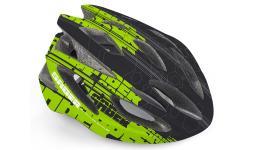 Шлем 8-9001462 спорт. Saber 143 Blk 17отв. INMOLD/EPS/поликарб. черно-зеленый 52-58см(10) AUTHOR