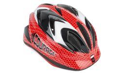 Шлем 8-9089932 с сеточкой Сourage INMOLD детский/подр. 11отв. красно-черно-белый 52-57см (10) AUTHOR