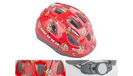 Шлем 8-9089951 с сеточкой Mirage 122Red Fish INMOLD детский/подр. 11отв. красный 48-54см (10) AUTHOR