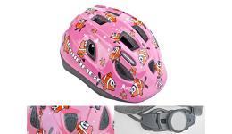 Шлем 8-9089952 с сеточкой Mirage 123Pnk Fish INMOLD детский/подр. 11отв. розов. 48-54см (10) AUTHOR