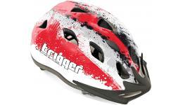 Шлем 8-9090006 с сеточкой Trigger 153 Red INMOLD подростковый 12отв. красно-бел. 54-58см (10) AUTHOR