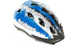 Шлем 8-9090007 с сеточкой Trigger 154 Blu INMOLD подростковый 12отв. сине-белый 54-58см (10) AUTHOR