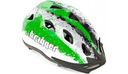 Шлем 8-9090008 с сеточкой Trigger 151 Grn INMOLD подростковый 12отв. зелен-белый 54-58см (10) AUTHOR