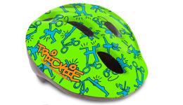 Шлем 8-9090081 с сеточкой Trickie 153 Grn/Blu детский/подр. 8отв. зелено-синий 49-56см (10) AUTHOR