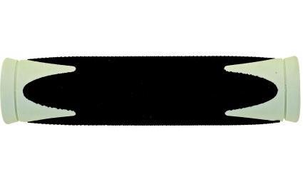Ручки 5-410369 на руль резин. 2-х компонент. 130мм черно-белые (100) VELO