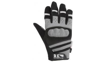 Перчатки 5-719858 длин. гель/лайкра дыш. д/сенсора антискольз. L с защитой черно-серые M-WAVE