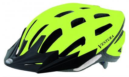 Шлем 5-730915 спорт. с сеточкой 24отв. Semi-InMold 54-58см неон.-черн. светоотраж.+диод (10) VENTURA