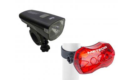 Фара+фонарь 8-12040115 1д 1W/2ф. Lumina/+5д/5ф A-Meteor R красный (10) с батар. AUTHOR