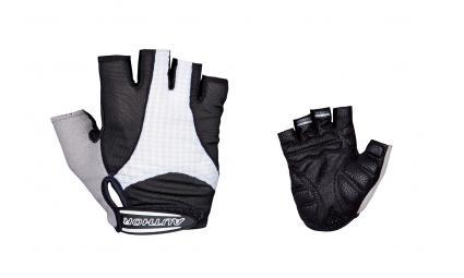 Перчатки 8-7130590 Men Elite Gel черно-белые р-р L гель/лайкра/синт.кожа с петельками (20) AUTHOR