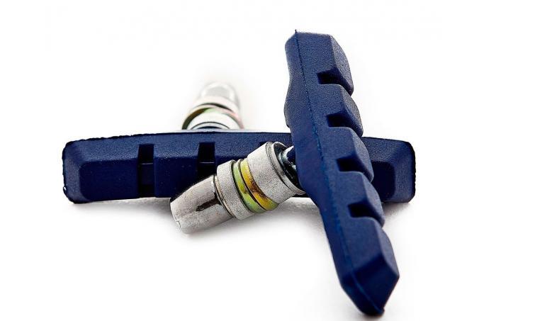 Торм. колодки 00-170113 с крепежом симетр. 70мм синие
