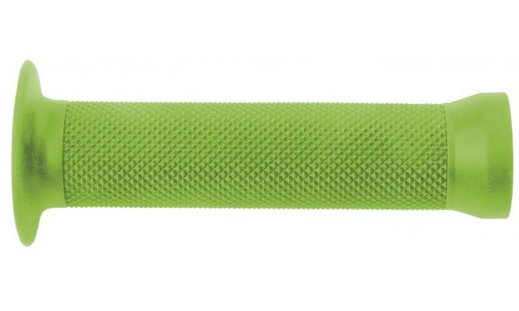Ручки 3-361 на руль С83 резин. BMX 135мм торц. защита+защита от проскальз. зеленые CLARK`S