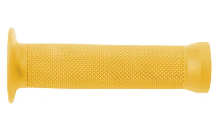 Ручки 3-365 на руль С83 резин. BMX 135мм торц. защита+защита от проскальз. желтые CLARK`S