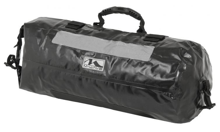 Сумка 5-122730 на багажник цилиндр. универс. V=28л 100%-водонепрониц. черная M-WAVE