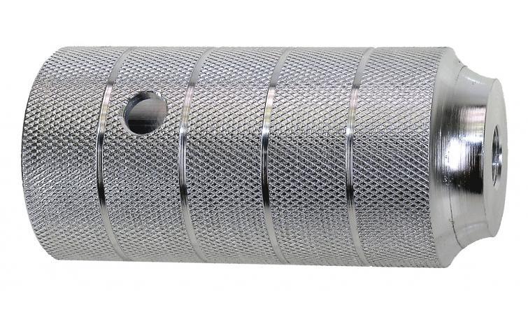 Пеги 5-329984 на ось BMX 50х110 алюминий резьба М14х1.0 серебр.