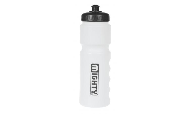 Фляга 5-340358 пластик. анатом. контроль уровня жидкости 0,8л белая (100) MIGHTY