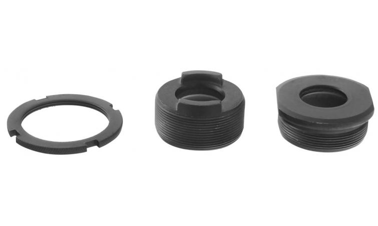 Каретка/чашки 5-352610 со стопор. кольцом резьба BSA черные