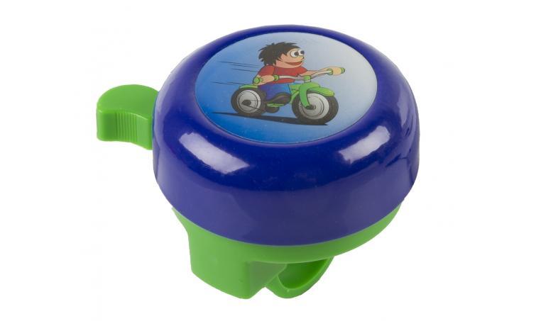 Звонок 5-420119 сталь/пластик детский с 3D-рисунком 6 цветов в ассорт. (6) M-WAVE