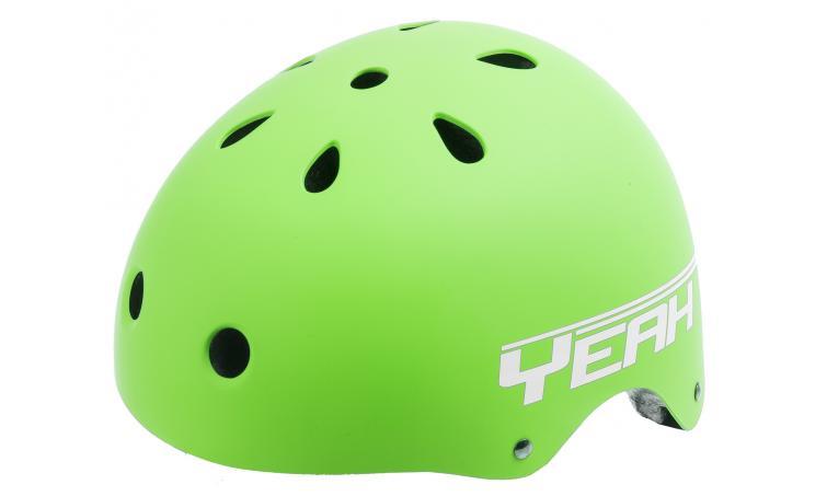 Шлем 5-731475 универс/ВМХ/FREESTYLE 11отв. суперпрочн. 54-58см (10) матов. зеленый YEAH! VENTURA