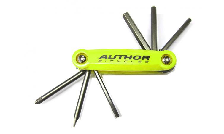 Набор 8-10000038 унив. ToolBox 6 складн. шестигр., +/- отвертки Сr-Va желтый (10) AUTHOR