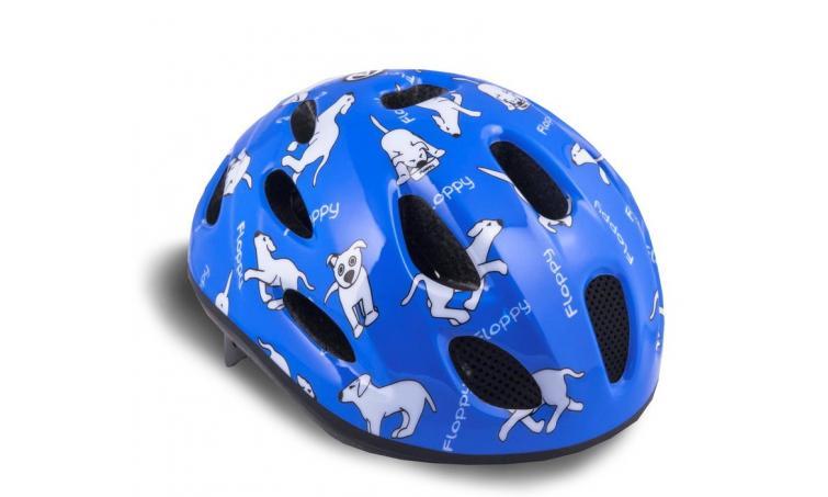 Шлем 8-9090054 с сеточкой Floppy 143 Blu детский 16отв. синий 48-54см (10) AUTHOR