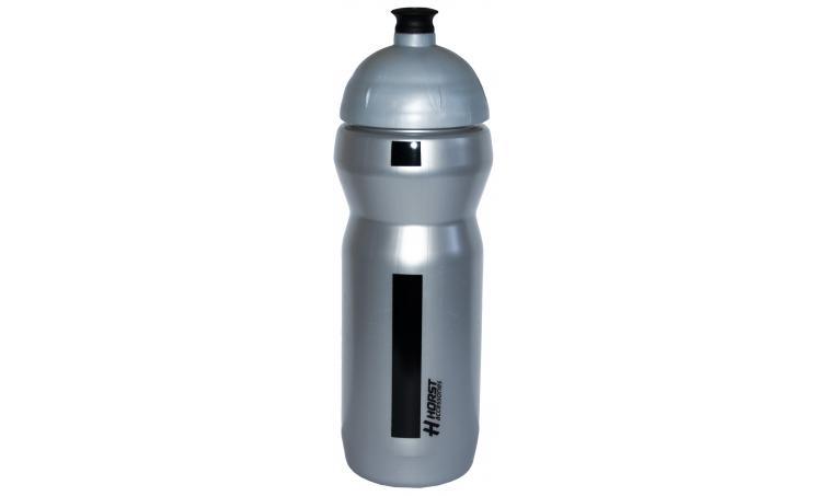 Фляга 9-150750 высококач. пластик, с удобным носиком, 0,75л серебристо-черная HORST SALE