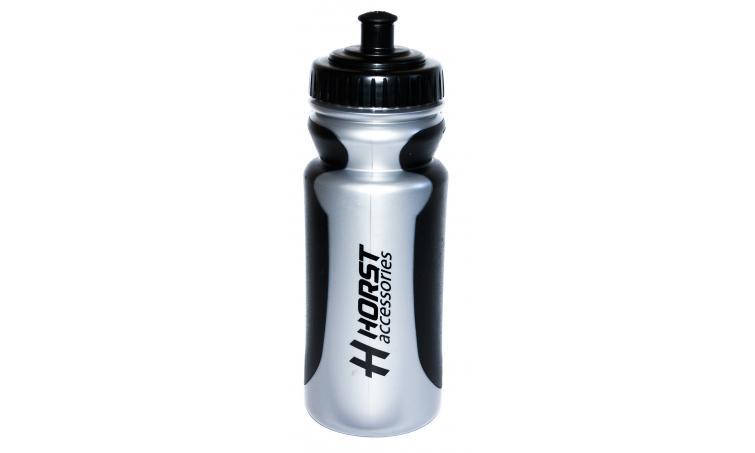 Фляга 9-156000 высококач. антискольз. пластик 0,55л серебристо-черная HORST SALE