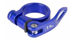 Хомут 5-250926 подседельный с эксцентриком 31,8мм, синий