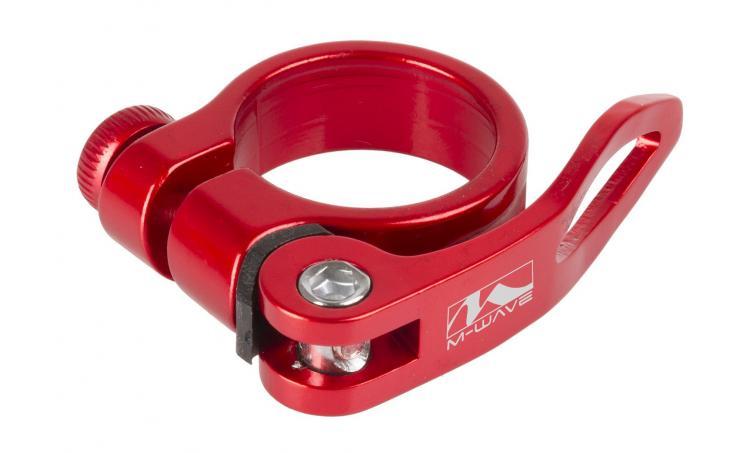 Хомут 5-250925 подседельный с эксцентриком 31,8мм, красный
