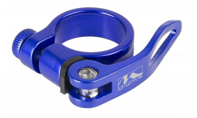 Хомут 5-250946 подседельный с эксцентриком 4,9мм, синий